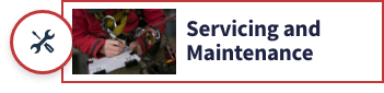 servicing and maintenance